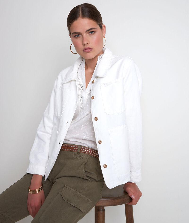 Veste en coton et lin écrue Romea PhotoZ | 1-2-3