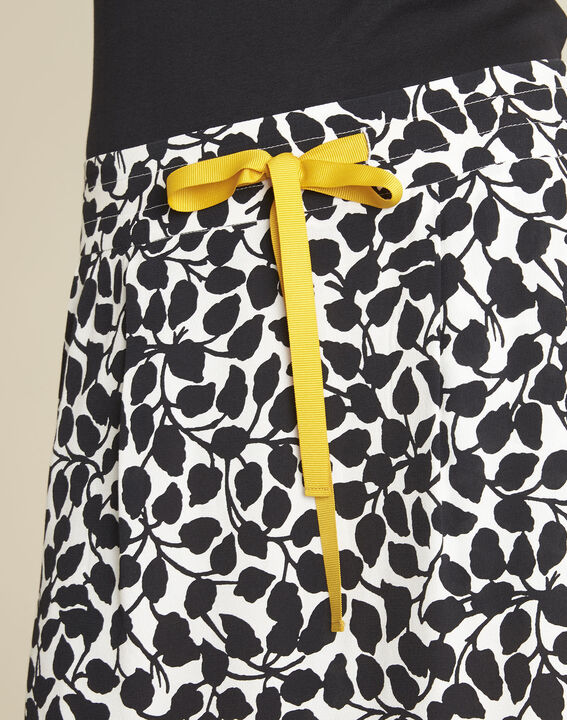Lutin leaf print skirt with grosgrain belt (3) - Maison 123