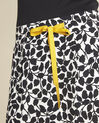 Lutin leaf print skirt with grosgrain belt (3) - 1-2-3