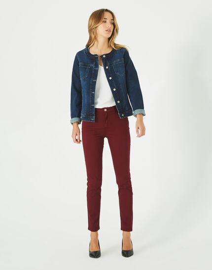 Veste en jean col tressé Uma (1) - 1-2-3