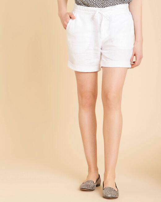 Citron white linen shorts (2) - 1-2-3