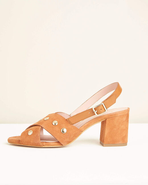 Sandales à talons camel Kitty (2) - 1-2-3