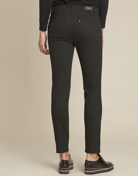 Zwarte 7/8 jeans van 2 soorten materiaal Vendome (4) - 37653