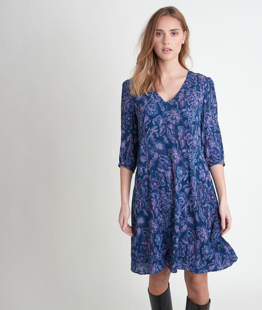 Robe bleue imprimée Claude PhotoZ | 1-2-3