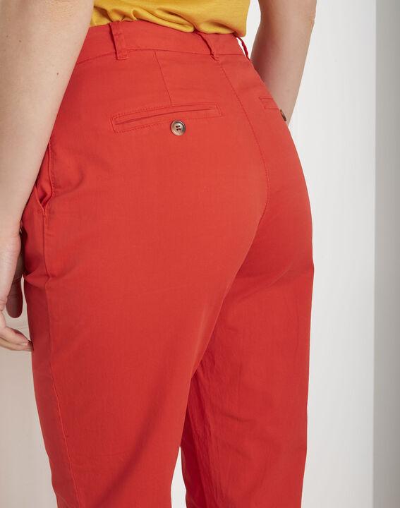 Pantalon rouge chino Calypso (3) - Maison 123