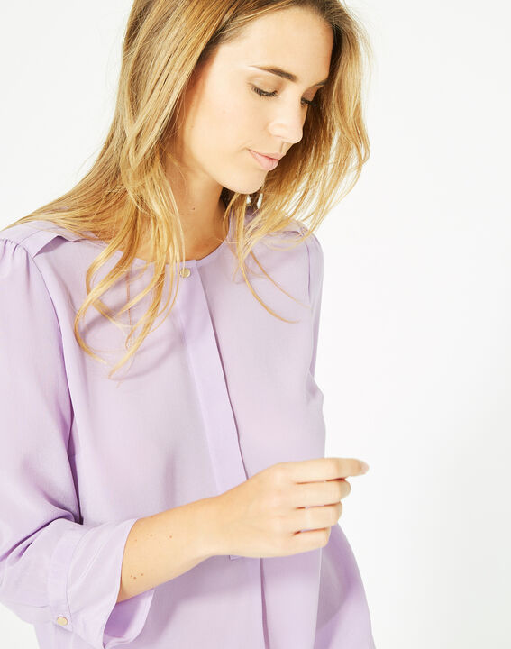Dorothée lilac silk blouse (3) - 1-2-3