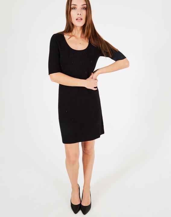 Robe noire à strass Princesse (4) - 1-2-3