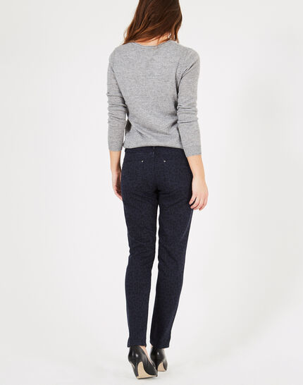 Marineblaue Jeans mit Print Passy (3) - 1-2-3