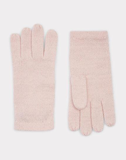 Puderfarbene Kaschmir-Handschuhe Tulipe bis (1) - 1-2-3