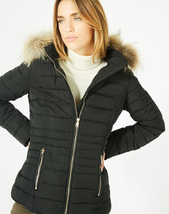 Doudoune noire courte à capuche Rosie PhotoZ | 1-2-3