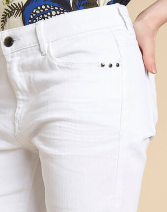 Vivienne straight-cut fitted white jeans white.