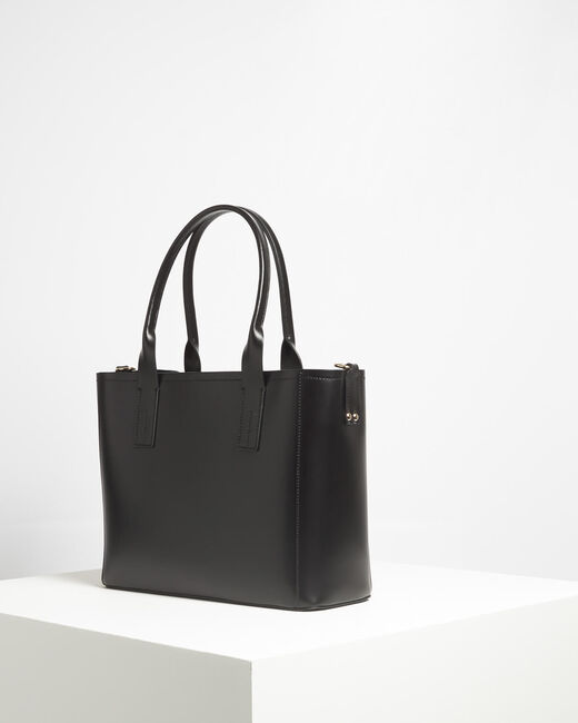 Debbie black leather tote bag (2) - 1-2-3