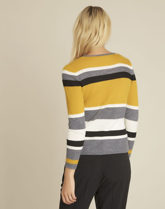 Bastien amber striped wool mix pullover (4) - Maison 123