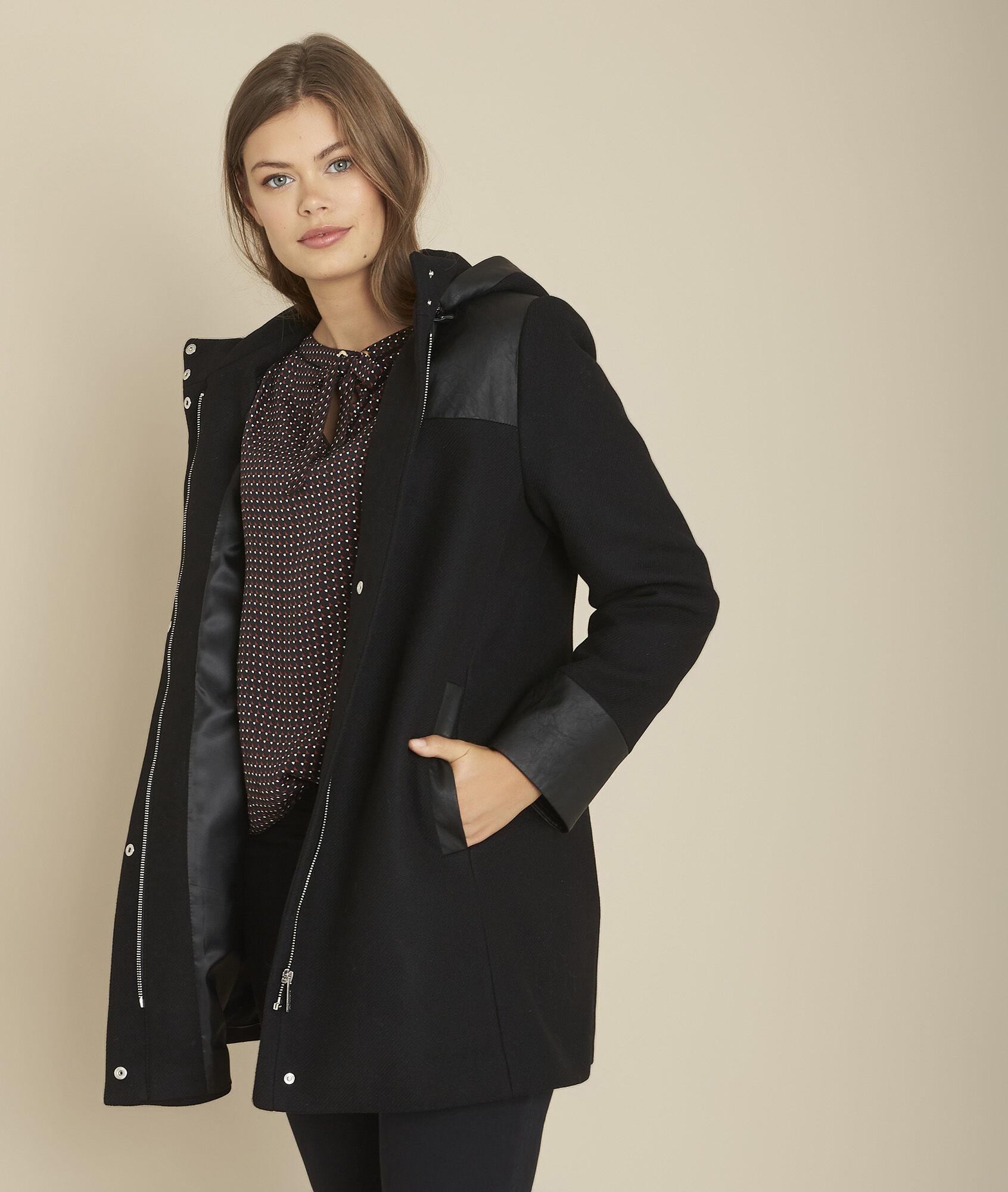 Manteau en laine mélangée à fermeture à boucle | Maison