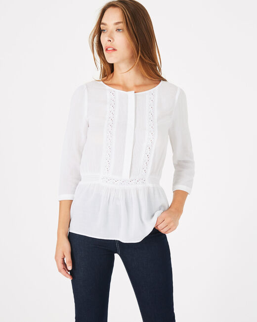 Dana ecru blouse with embroidery (2) - 1-2-3