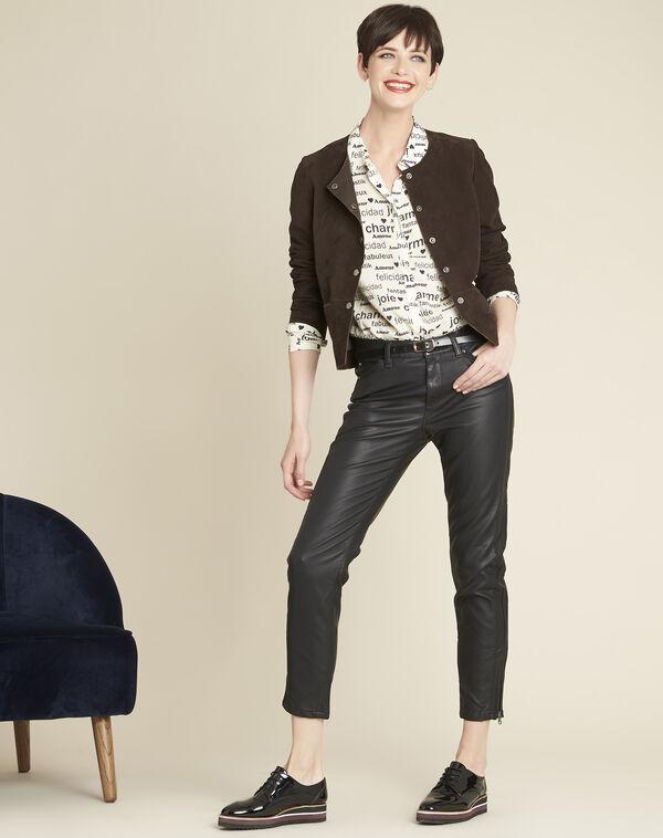 Slim fit 7/8-jeans van imitatieleer Opera (2) - 37653