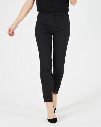 Pantalon de tailleur noir à fentes grace noir.