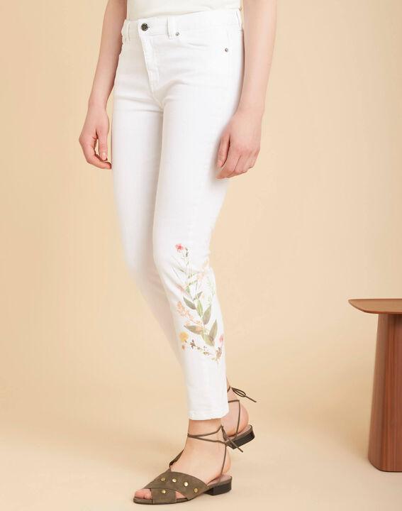 Vendôme 7/8 length printed white jeans (3) - 1-2-3