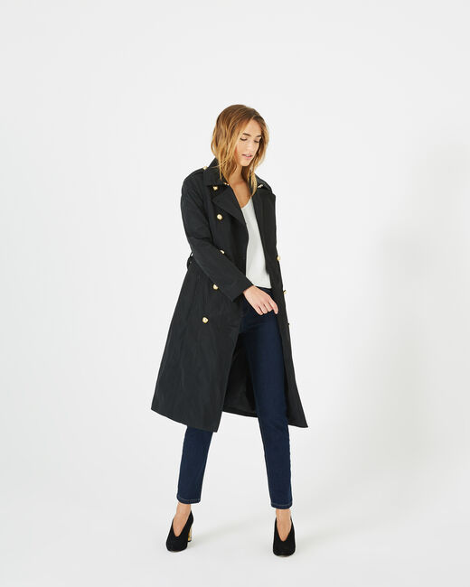 Trench mi long noir Jessy (2) - 1-2-3