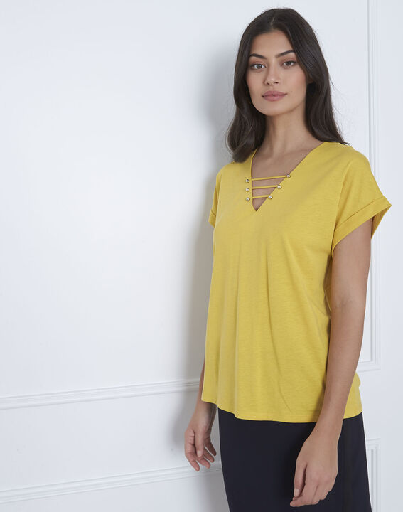Tee-shirt anis laçage Papeete (1) - Maison 123