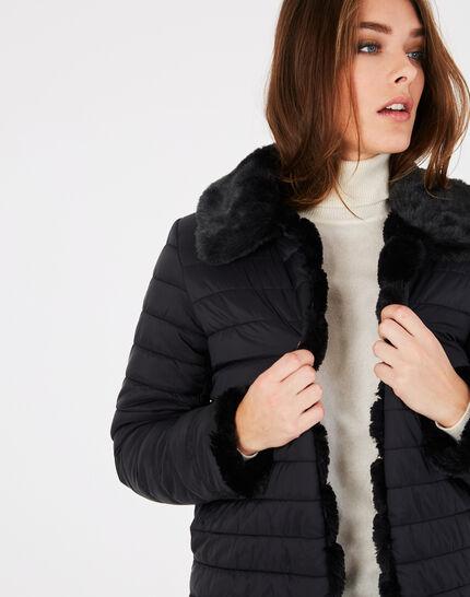 Laura black faux fur reversible jacket (2) - 1-2-3