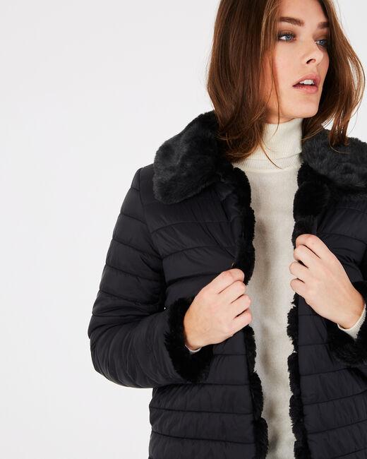 Laura black faux fur reversible jacket (1) - 1-2-3
