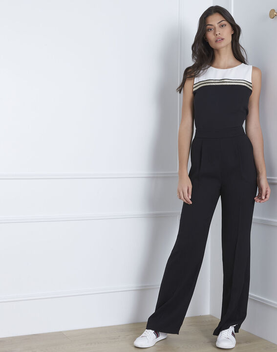 Schwarzer Lurex Jumpsuit mit Details Honey PhotoZ | 1-2-3