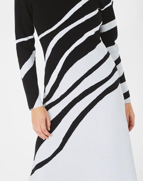 Robe noir et blanc graphique tricot Astre PhotoZ | 1-2-3