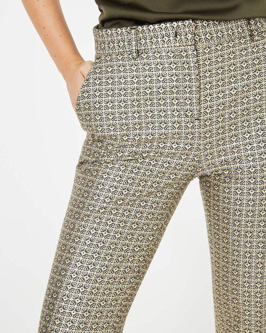 Pantalon doré imprimé Viva (2) - 1-2-3