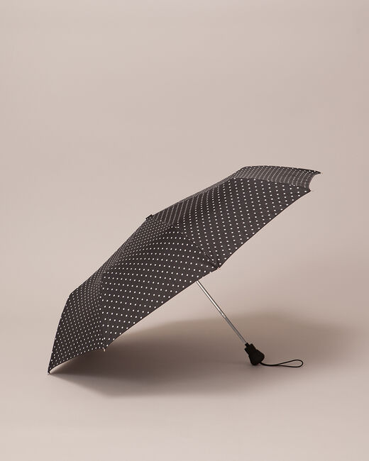 Zwarte paraplu met bolletjes Rain (1) - 37653
