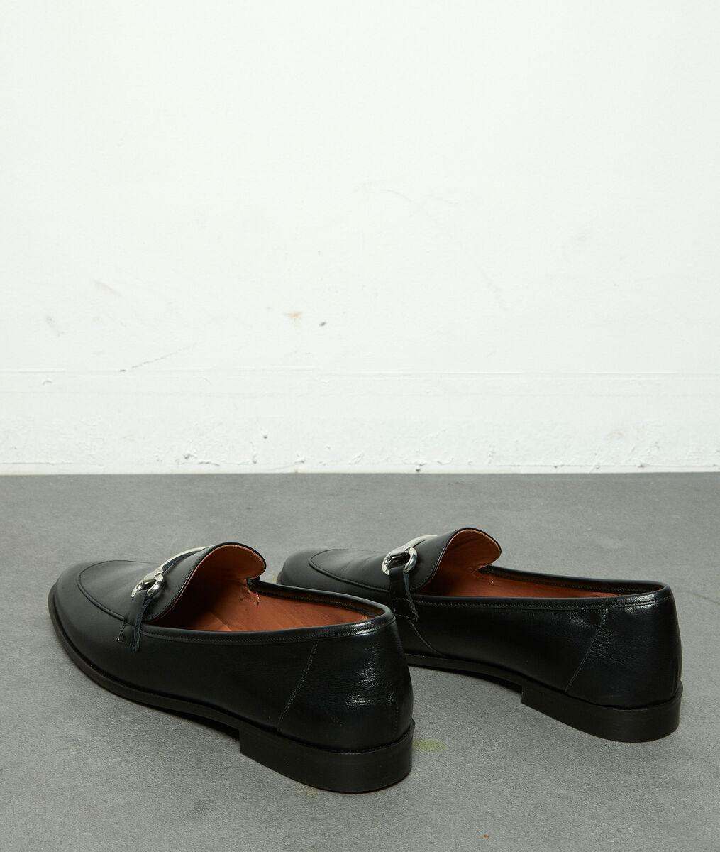 Mocassins à boucle en cuir noir Hanah PhotoZ | 1-2-3