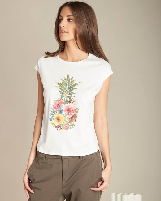 Emerveille pineapple ecru T-shirt (2) - 1-2-3
