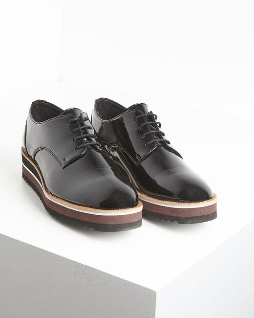 Ludivine black patent leather platform Derbies (1) - 1-2-3