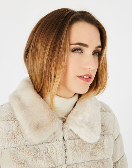 Laura ecru faux fur reversible jacket (3) - 1-2-3