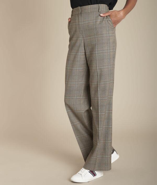 pantalon femme prince de galles