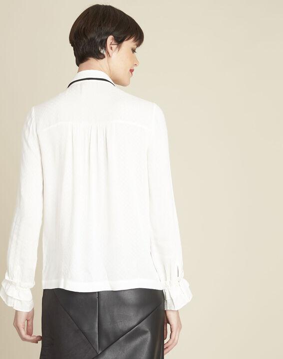 Calia ecru blouse with tie (4) - 1-2-3