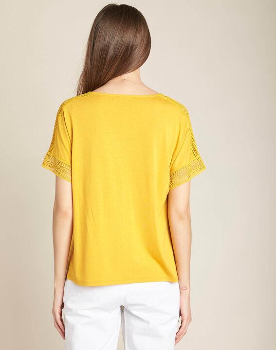 Estelle yellow lace T-shirt (4) - 1-2-3