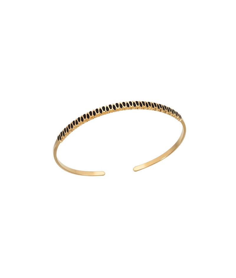 Bracelet jonc or pétale noir Bijoux Léone PhotoZ | 1-2-3