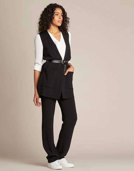 Night long black sleeveless jacket (3) - 1-2-3