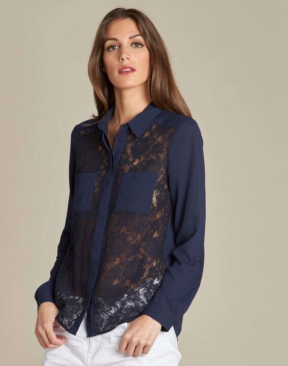 Diane navy blue lace blouse (3) - 1-2-3
