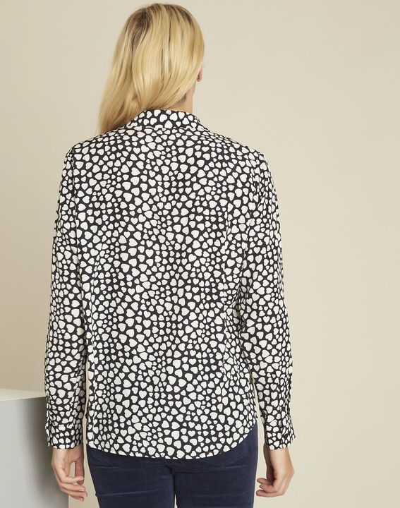 Catherine black heart print blouse (4) - 1-2-3