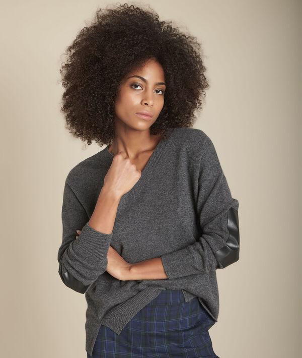 Pull en laine et cachemire gris chiné Figuier PhotoZ | 1-2-3