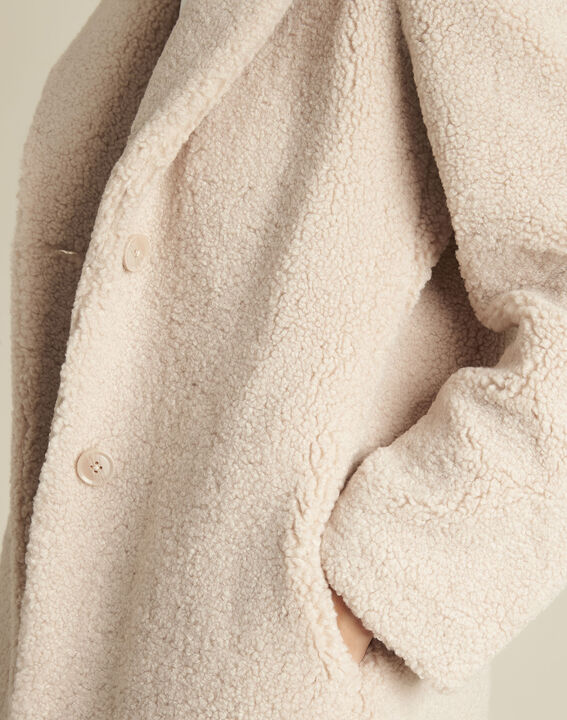 Elvire nude coat with boiled wool look (3) - 1-2-3