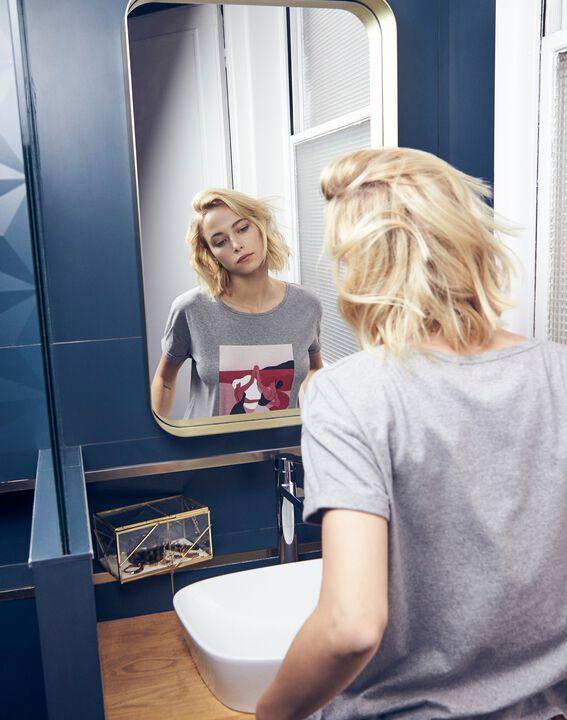 Tee-shirt gris Mujer Journée des Droits de la Femme (3) - Maison 123