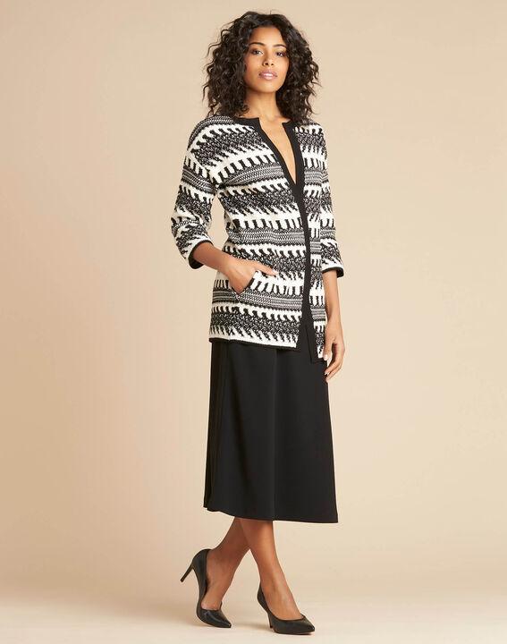 Navajo black and white knit jacket (3) - 1-2-3