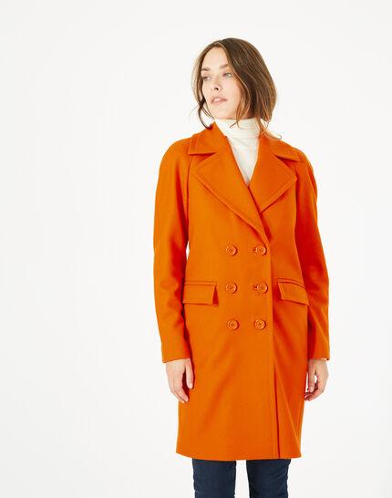 Orangefarbener Wollmantel Justin (3) - 1-2-3