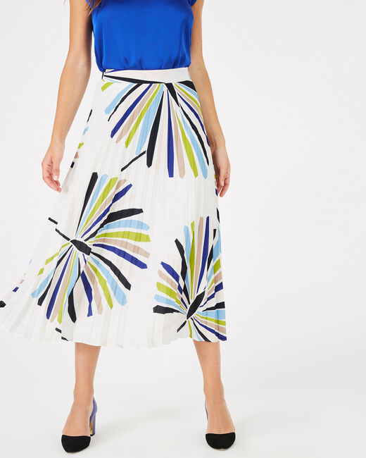 Florbella long pleated skirt (2) - 1-2-3