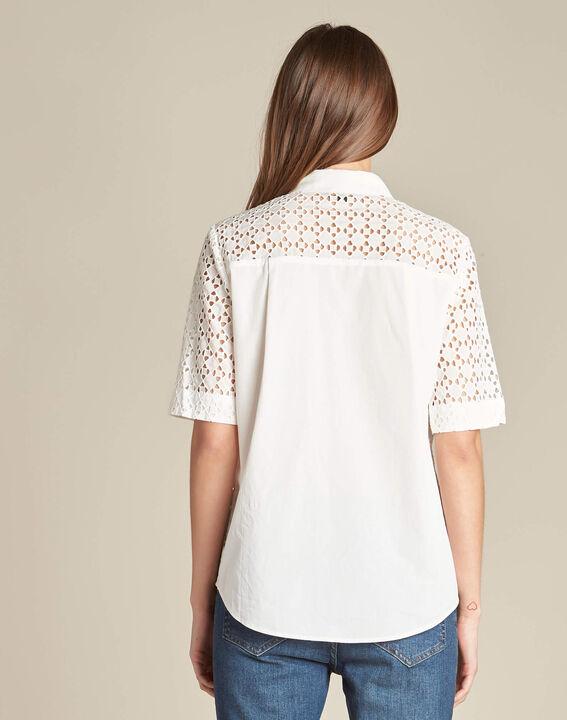 Gisele ecru lace blouse in 100% cotton (4) - 1-2-3