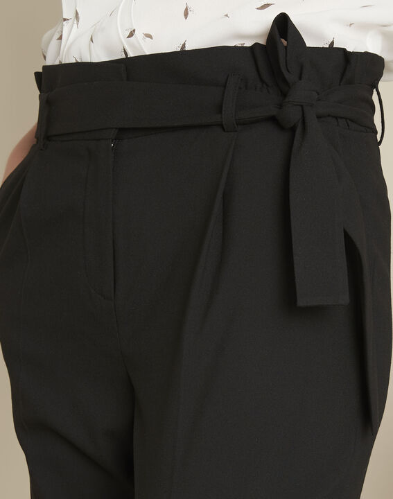 Hemy black belted trousers (3) - 1-2-3