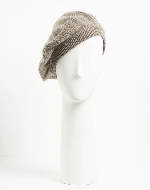 Taupefarbene Baskenmütze aus Kaschmir Ustave (1) - 1-2-3